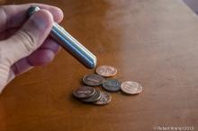Magnet and pennies