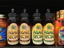 bottles of agave nectar